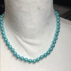 Jewelry - 8 mm light blue south sea shell pearl necklace